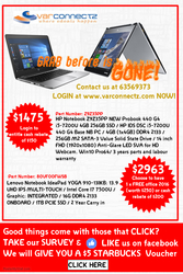 Grab it before is gone! Special deal on HP and Lenovo Laptop